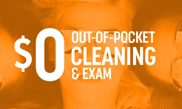 0 out of pocket cleaning and exam